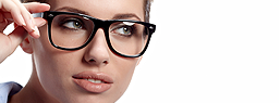 Woman wearing eyeglasses